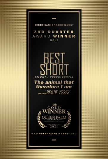 QPIFF 2020 GOLD AWARD CERTIFICATE (BEST SHORT - SILENT:EXPERIMENTAL)